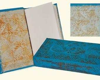 Hand Stamped & Hand Bound Book