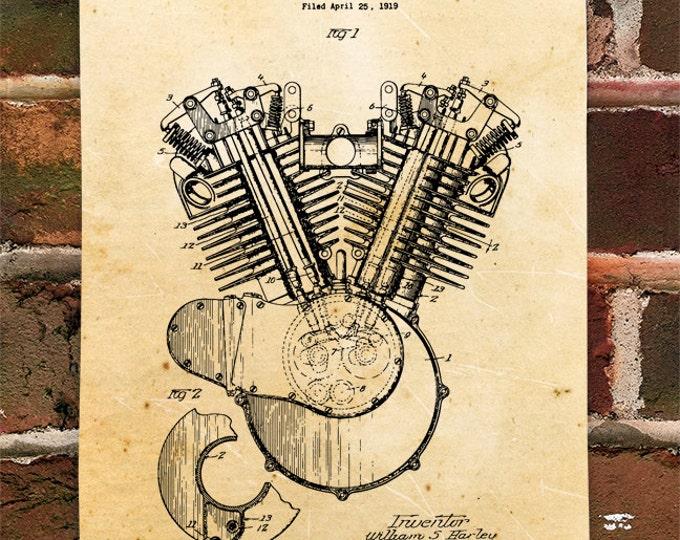 KillerBeeMoto: Duplicate of Original U.S. Patent Drawing For Harley Davidson Engine