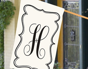 Monogrammed House Flag, Personalized House Flag
