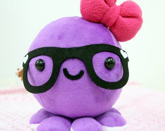 Purple Mummy octopus | Plush toy  | Cute Octopus  | Bow octopus | Plush toy