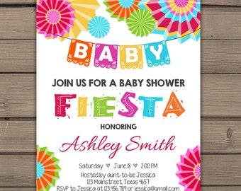 Fiesta Baby Shower Invitation Mexican Baby Shower Invitation Fiesta Baby  Shower Chalkboard Fiesta Shower Gender Neutral
