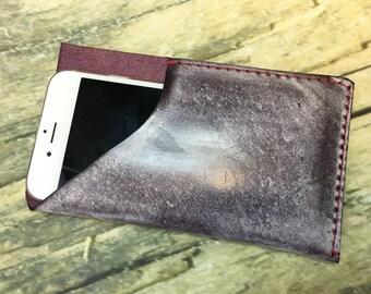 Phone Sleeve Series - UBIS004 : Cowhide iPhone 6 sleeve.
