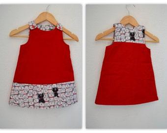 Kitten Overall Dress