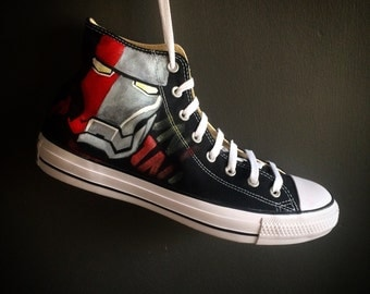 Custom-Made Ironman Marvel Converse Sneakers