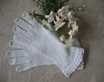 Crochet Gloves Vintage Crochet Downton Abbey Jane Austin Wedding  Tea Party Dance Garden Party WhenRosesBloom