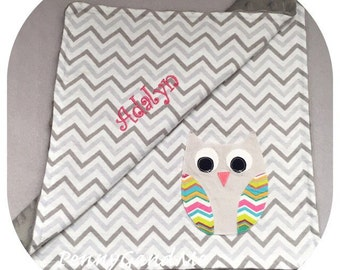 owl baby blanket owl lovey forest friends woodland baby blanket choose