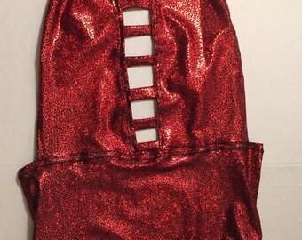 Metallic red bodysuit | made to order | plus size | worldwide shipping | ezoo nocturnal festival rave wear