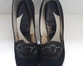 vintage black suede shoes