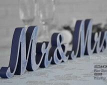 Navy Blue Wedding Decorations, Navy Blue Sign, Navy Blue Centerpieces, Navy Blue, MR & MRS Navy Blue Glitter