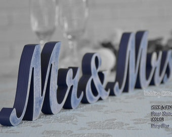 Navy Blue Wedding Decorations, Navy Blue Sign, Navy Blue Centerpieces, Navy Blue, MR & MRS Navy Blue Glitter