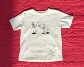 Penguin Snowball Toddler Tee: 100%  organic cotton with screenprint, embroidery and appliqué