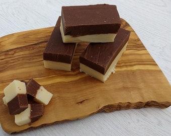 Handmade Chocolate and Vanilla Fudge