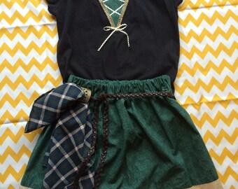 Disney Princess Merida Outfit:  Modern BRAVE Princess Merida girls outfit