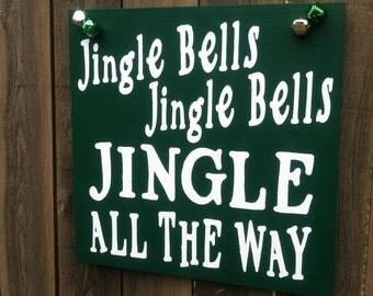 Jingle Bells Sign,christmas decor, jingle all the way, jingle bells, jingle bell decor, jingle bell sign, santa wall art