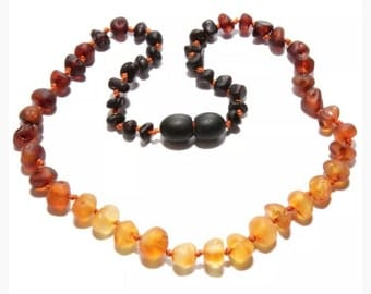 raw + ombre || baltic amber necklace