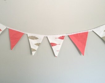 Fabric Banner- Fabric Bunting Flag- Room Decor