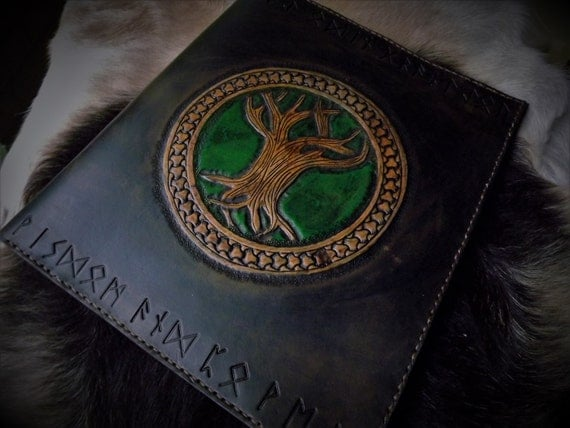 Custom Viking Inspired Portfolio / Sketchpad / Journal / Tablet Case