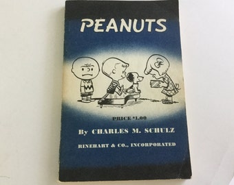 "1958 ""Peanuts"" book by Charles M.Schultz comic format"