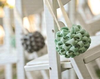 Mint And Grey Wedding Decorations Green Kissing Balls Centerpiece