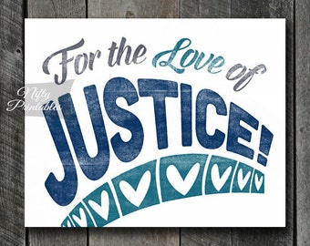 Law Print - INSTANT DOWNLOAD Law Art - Vintage Justice Poster - Lawyer Wall Art - Law Gifts - Attorney Decor - Police Print - Policeman Art