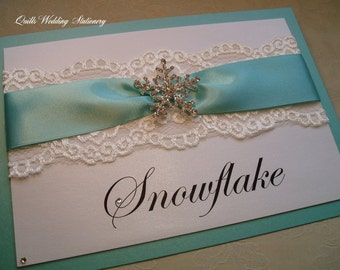 Luxury Snowflake Table Name Cards.