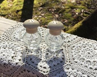 Mini Vintage Shabby Chic Salt & Pepper Shakers