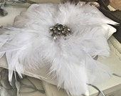 Vintage Hollywood handmade bridal cushion for rings