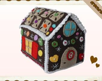 Crochet Pattern (055): Gingerbread house