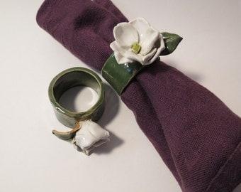 Magnolia Napkin Rings