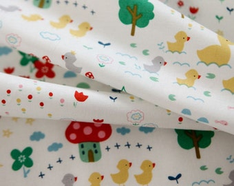 Cotton Fabric Baby Duck White By The Yard