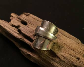 Beautiful silver spoon ring