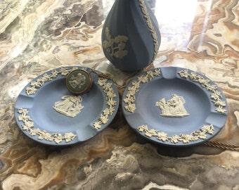 Vintage Wedgewood Set Vase, Two Plates