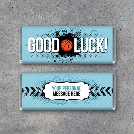 Basketball GOOD LUCK Personalized Candy Bar Wrapper – Printable ...