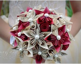 Paper Flower Bridal Bouquets