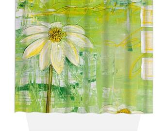Shower Curtain, Home Decor, Bathroom Decor, Sunlit Daisy