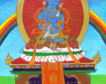 Vajrahhara magnet, fridge magnet, Buddhist paintings, Thangka, Vajrahhara, oriental magnet, hand painted magnet, Thangkame, magnet set
