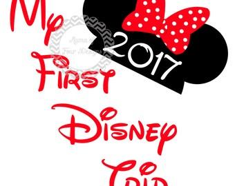 DIY - My First Disney Trip - Iron On Transfer