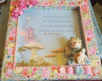 "8"" x 8"" Deep picture frame-Fairies"