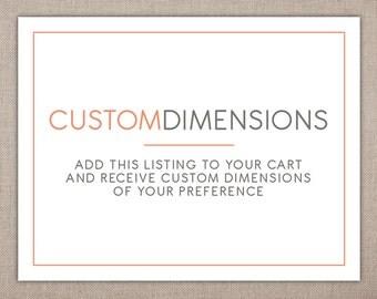 DIMENSION CHANGE - Custom Add-on