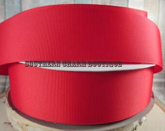"3 yards 1 1/2"" solid red grosgrain ribbon"
