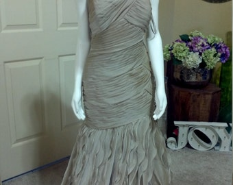 Special Occasion JOVANI Mermaid Evening Dress,Strapless Ruched Satin Mermaid Gown,Bridesmaid,Quinceañera,Prom,Homecoming  size 12