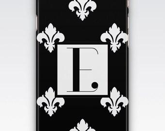 Case for iPhone 8, iPhone 6s,  iPhone 6 plus  iPhone 5s,  iPhone SE,  iPhone 5c,  iPhone 7,  Monogrammed black and white iPhone