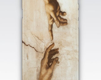 Case for iPhone 8, iPhone 6s,  iPhone 6 Plus,  iPhone 5s,  iPhone SE,  iPhone 5c,  iPhone 7  - The Creation of Adam by Michaelangelo