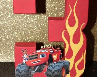 Blaze and The Monster Machine Inspired Cake Topper, Blaze and The Monster Machine Centerpiece