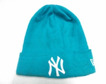NY Acrylic Beanie Turqoise Snow Cap Ski Hat