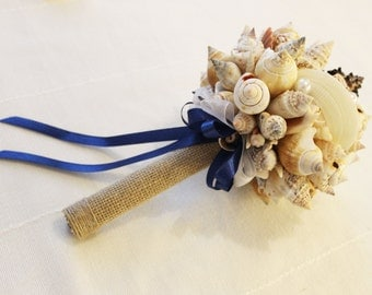 Sea shell small bouquet, Bridal bouquet Sea , Beach wedding,