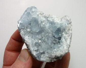 Beautiful BLUE CELESTITE Crystal Cluster Specimen from Madagascar Natural Rough Raw Crystals Celestine 8