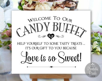 Candy Buffet Sign Printable Wedding Sign Digital Instant Download (#CBU1B)