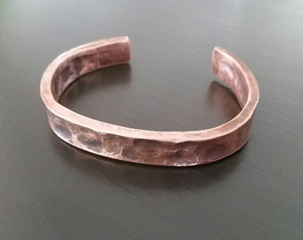 Secret Message Pure Copper Bangle Bracelet