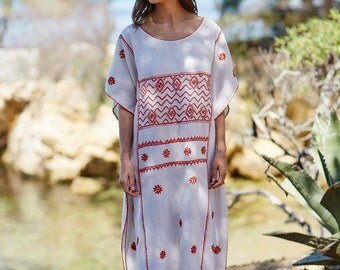 Kaftan: Long, handmade, embroidered kaftan Salma